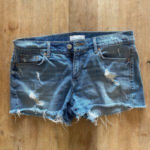 Loft Distressed Cutoff Denim Shorts
